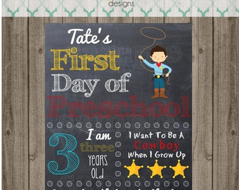 First Day of School Sign - Printable 8x10 First Day of School Photo Prop