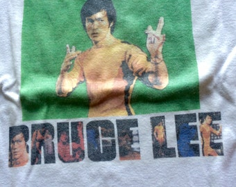 BRUCE LEE - Vintage 70 s T-Shirt/Tee - Size M - Women