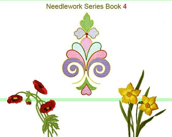 EMBROIDERY LACE MAKING and Needlework Book 4 with 61 Patterns including 72 Illustrations 139 pages Instant Download