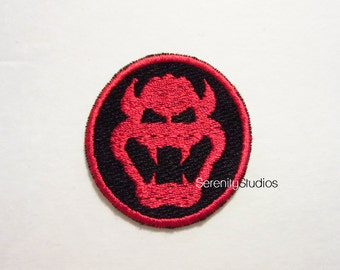 Round Bowser Iron on Patch