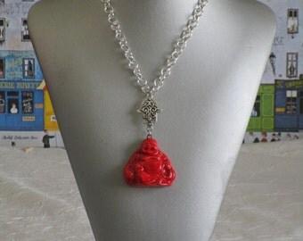 """Collier pendentif  """"Un charmant Bouddha rieur"""""""