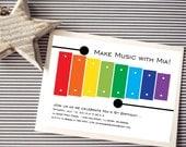 Instant Download - Xylophone - Rainbow Music - Baby Shower/Birthday Invitation, Custom Printable