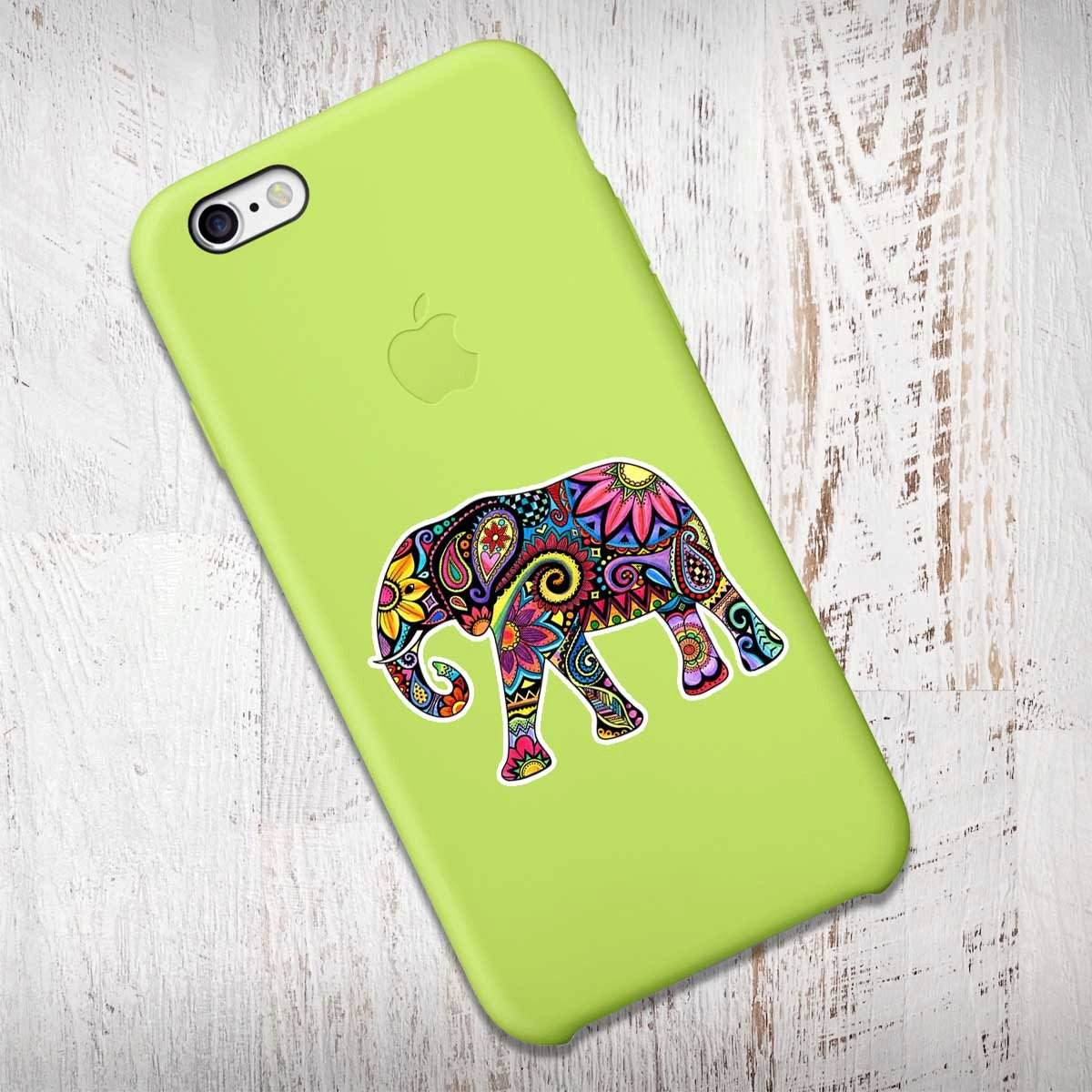 Cute car sticker designs - Mini Elephant Sticker Phone Decal Colorful Laptop Decal Small Elephant Iphone Sticker Jungle Flowers Cute Car Decal Hippie Boho Tribal Art