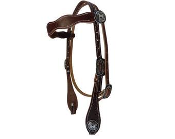 West Coast Tack Harness Leather Headstall Western Scallop Browband Horse Jeremiah Watt Southwest Hardware