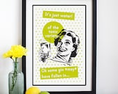 Gin Sign, Wall Decor, Gift for Her, Retro Print, Gin Print, Gin Gift, Art Print, Gin Poster, Posters, Best Friend Gift, Wall Art, Humor, Gin