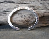 Heavy-Gauge Sterling Silver Cuff - Reserved for Sherry - SOLD