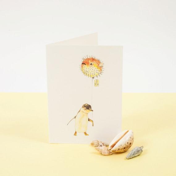 Peng Win Greetings Card