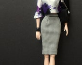 Houndstooth Pencil Skirt for Dynamite Girls Fashion Dolls ONLY