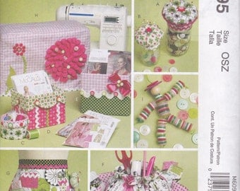 Sewing Room Organizers & Covers Pattern McCalls 6095 Uncut