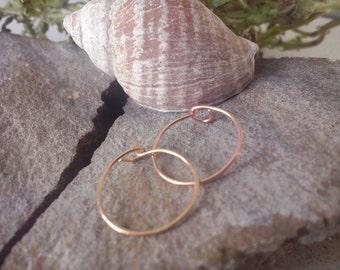 Extra Thin Nose Ring - 24 Gauge or 26 Gauge -14k Yellow Gold Filled / 14k Rose Gold Filled