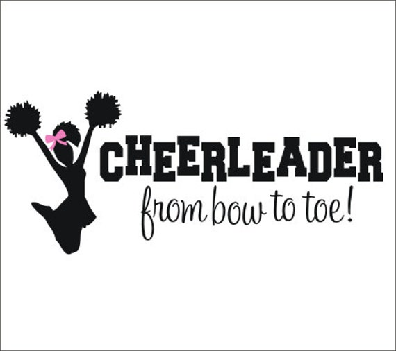 Cheerleader wall decal vinyl decal cheer decal cheerleader for Cheerleader wall mural