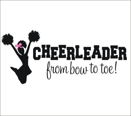 Cheerleader Wall Decal Vinyl Decal Cheer Decal Cheerleader