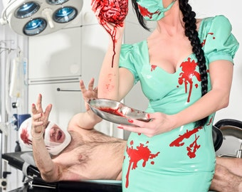 Blood Splattered Latex Nurse Dress