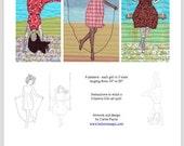 Girls at Play Pattern - Digital Download
