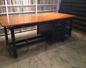 Large Vintage Wooden Desk