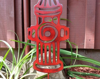 Whimsical Steel/Metal Fire Hydrant