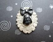 Darth Vader Pendant OR Brooch (grey)