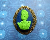 Blue/Green Undead Elvis Cameo Brooch