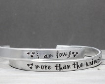 Mother Daughter Bracelets, HandStamped Jewelry, Personalized Bracelet Set, Hand Stamped Cuff,  Personalized Jewelry