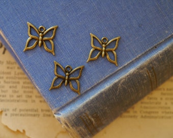 12 pcs Antique Bronze Butterfly Charms 18mm (BC2572)