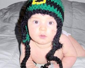 St Patricks Day baby crochet hat, photography prop