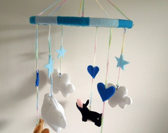 Boys Piggy Mobile - Hand Made