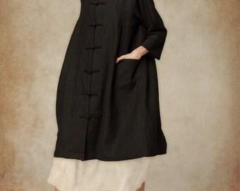 Hooded Coat in Black / Women Hooded Coat, hooded winter coat, Long Hoodie Coat , Winter Coat, Christmas Gift, Oversized Hooded Coat in Black