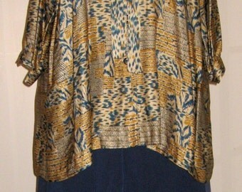 Silk and Linen Size 5X Pants and Blouse
