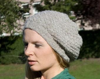 womens slouchy hat , beige slouchy knit  hat, slouchy beanie, chunky slouchy hat, hipster hat, chunky knit beanie hat