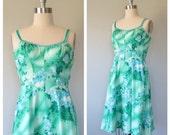 70s De Weese Design sun dress size medium / vintage sun dress