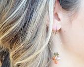 Goldstone Teardrop Dangle Earring