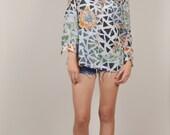 SUMMER SALE Vintage Lanvin Long Shirt Loose Lightweight