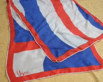 Vintage Vera Scarf, Lovely Red, White, and Blue