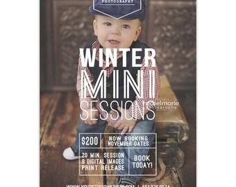 Winter Mini Session Template, Christmas Mini Session Template, Mini Session Marketing, Photography Marketing Template, Marketing Board AD162