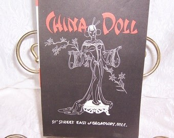 Original Dance Show Program, China Doll Nightclub & Restaurant, New York City Nightclub Venue, Midtown Nightclubs, Slant Eyed Scandals