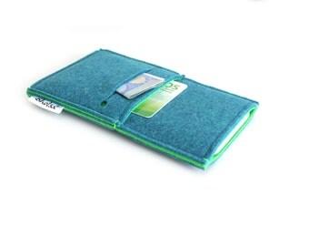 iPhone 7 sleeve, iPhone 7 Plus Sleeve, iPhone 7 Case, iPhone 6s Plus Sleeve, Samsung, Nexus. HTC-  Minimalist - Teal Blue & Bright Green
