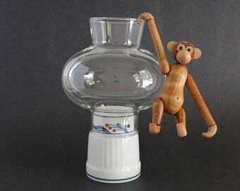 Vintage Dansk Bistro Hurricane - Dansk Candle Holder - Dansk Bistro Maribo Votive Candleholder - Niels Refsgaard Lantern Lamp and Globe