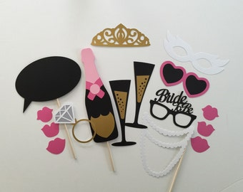 Bachelorette Photo Booth Props Bridal Party Wedding Photobooth