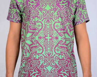 Nagual All over print pattern T-shirts, Optical, Rad, Psychedelic