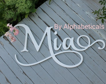 Wooden Name Sign Baby Name Letters Nursery Letters Wooden Letters for Nursery Wall Hanging Wall Letters for Wall Decor M Mia Alphabeticals