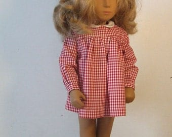 Choice of *Colour* Long Sleeved Classic Gingham Dress Outfit for Sasha doll Girl, Toddler or Baby.
