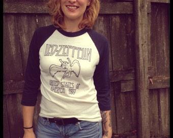 Vintage Led Zeppelin 1979 tour concert shirt