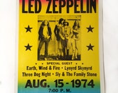 Poster - Summer's Evening with Led Zeppelin 1974