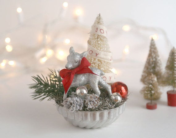 Vintage Tin Christmas Tree Ornaments : Items similar to vintage style christmas decoration
