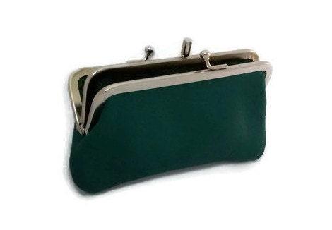 Vintage double kiss clasp wallet