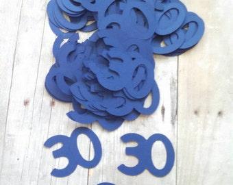 30 Confetti ~ Multiple Colors ~ Multiple Years ~ 30th Party Table Confetti ~ Decor ~ 50 Pieces