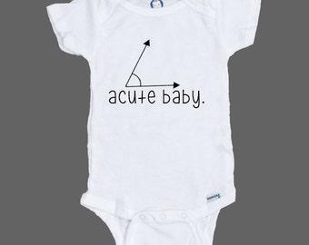 ACUTE BABY onesie gerber - gender neutral gift - cute funny adorable bodysuit baby shower boy girl math geek nerdy nerd
