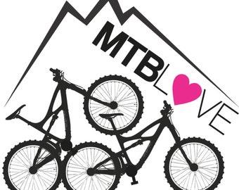 MTBLove Logo Sticker (Multiple heart color options)