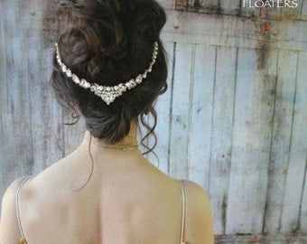 Wedding pearl headpiece, wedding headband, pearl headpiece, wedding hair accessories, wedding hair jewelry