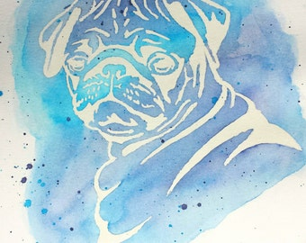 PUG LOVE - Original Hand Painted